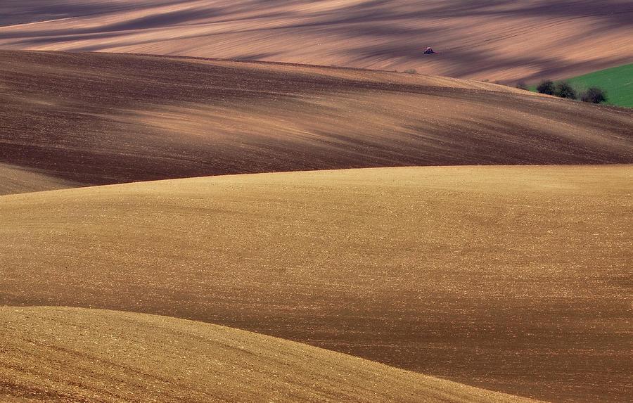 Fields Photograph - Spring Work by Fproject - Przemyslaw