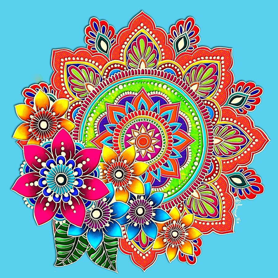 Springtime Mandala by Becky Herrera
