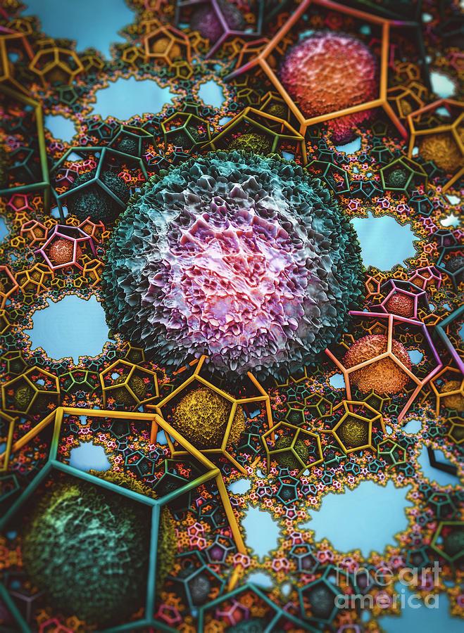 Springtime Plasma Rock IV. Abstract Art by Stephen Geisel