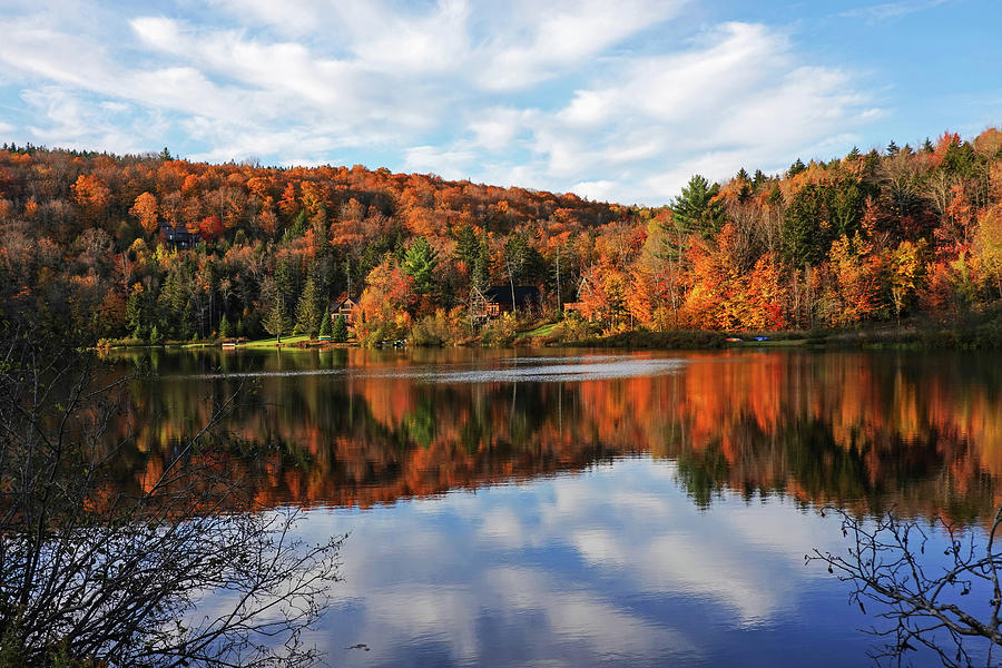 Spruce Lake Wilmington VT Fall Foliage Autumn by Toby McGuire