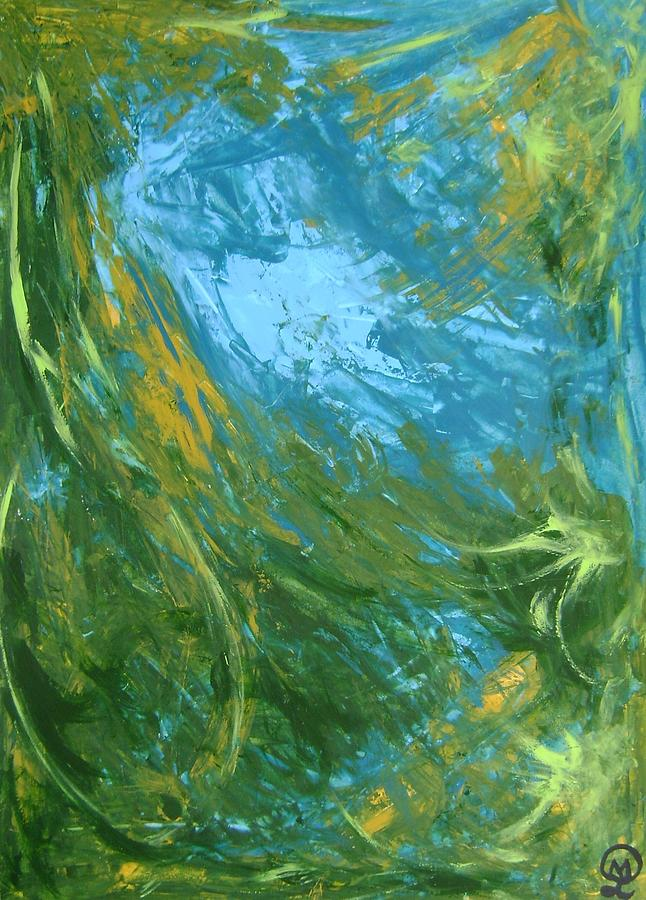 Spy fish in the deep blue sea-8098 Painting by Therese Legere