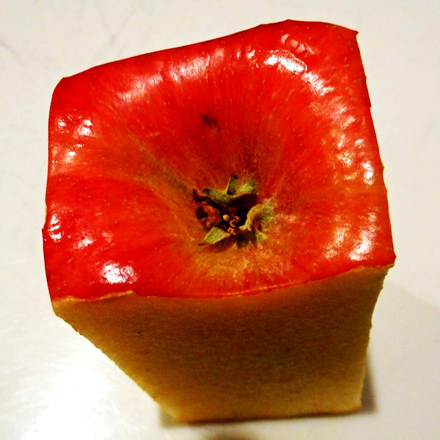 Apple Photograph - Square Apple by Dietmar Scherf