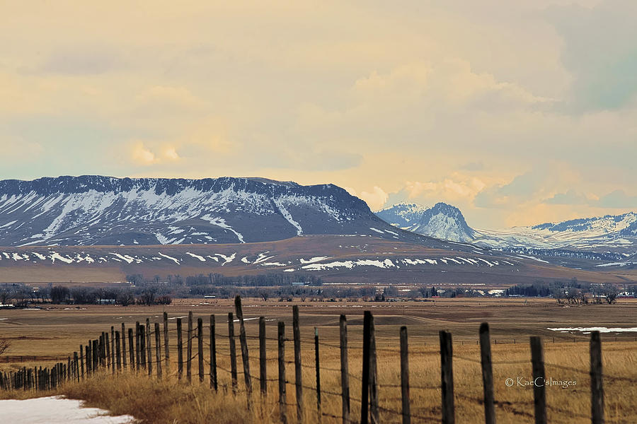 Square Butte and Nearby Peaks by Kae Cheatham