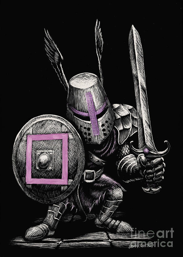 Square Gaming Knight by Stanley Morrison