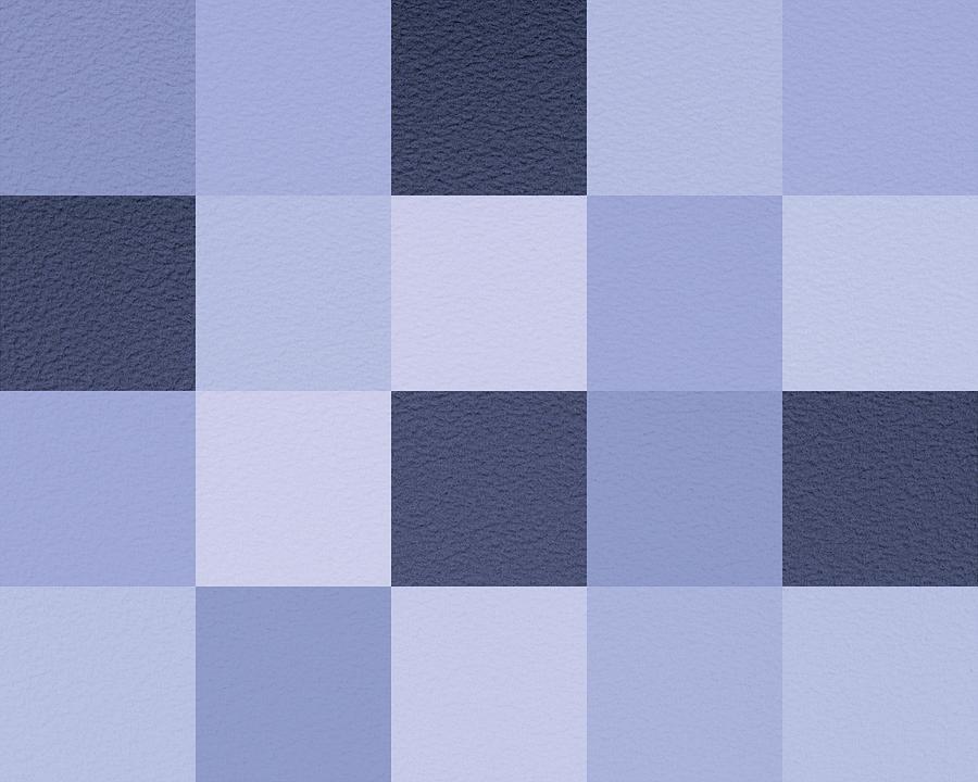 Squares Blue - Horizontal Digital Art