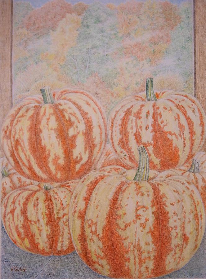 Squash Drawing - Squash by Kathy Gales