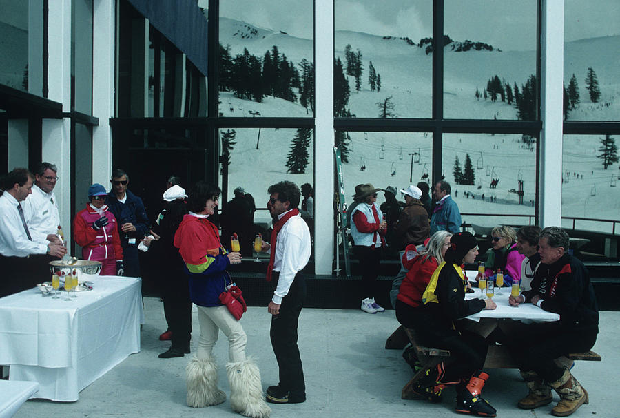 Squaw Valley Cable Car Deck Photograph by Slim Aarons