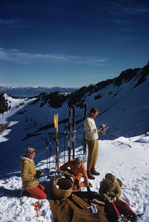 Squaw Valley Picnic Photograph by Slim Aarons