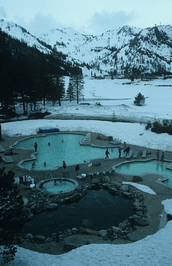 Squaw Valley Pool Photograph by Slim Aarons