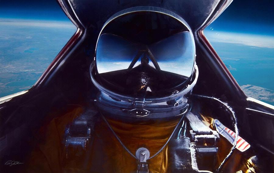 Aviation Digital Art - Sr-71 Selfie by Peter Chilelli