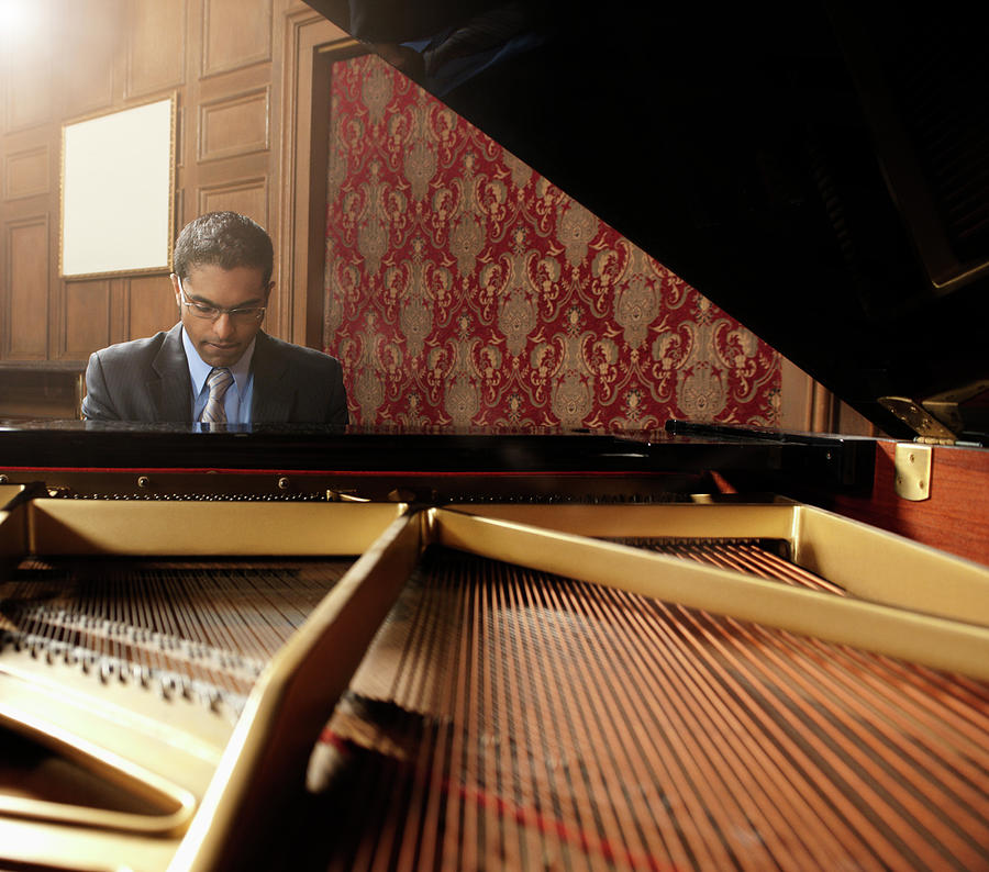 Sri Lankan Pianist Performing In Photograph by Hill Street Studios