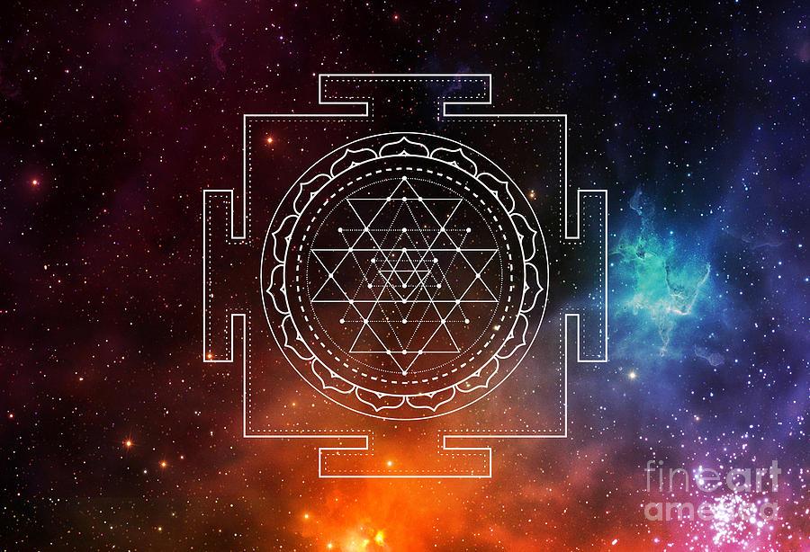 Sri Yantra Chakra Sacred Geometry by Nathalie DAOUT