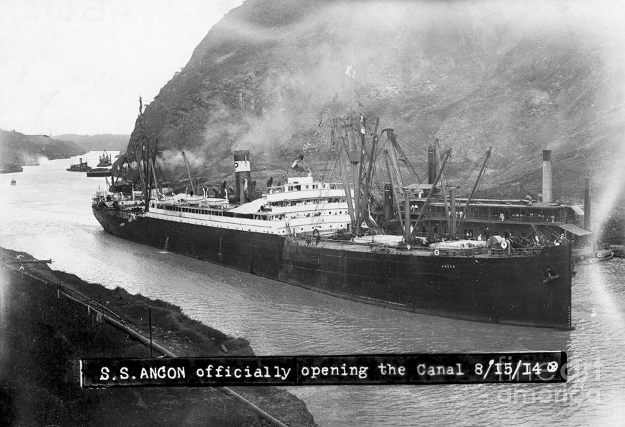 Ss Ancon At The Opening Of The Panama Photograph by Bettmann