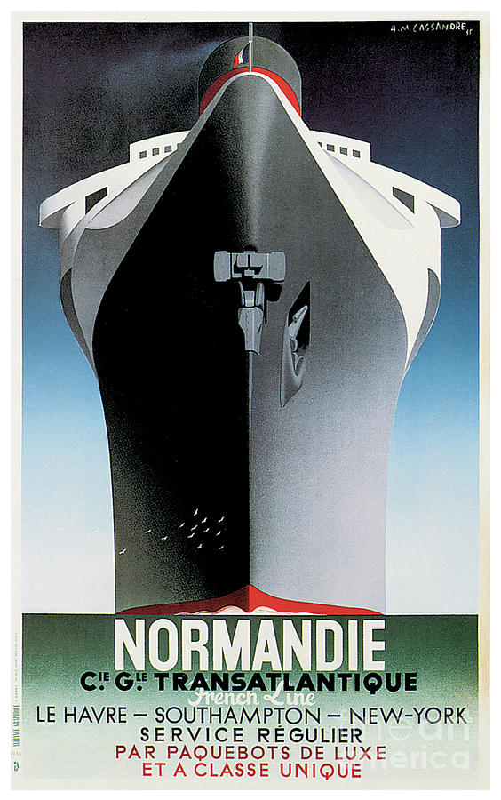 SS Normandie by Adolphe Mouron Cassandre