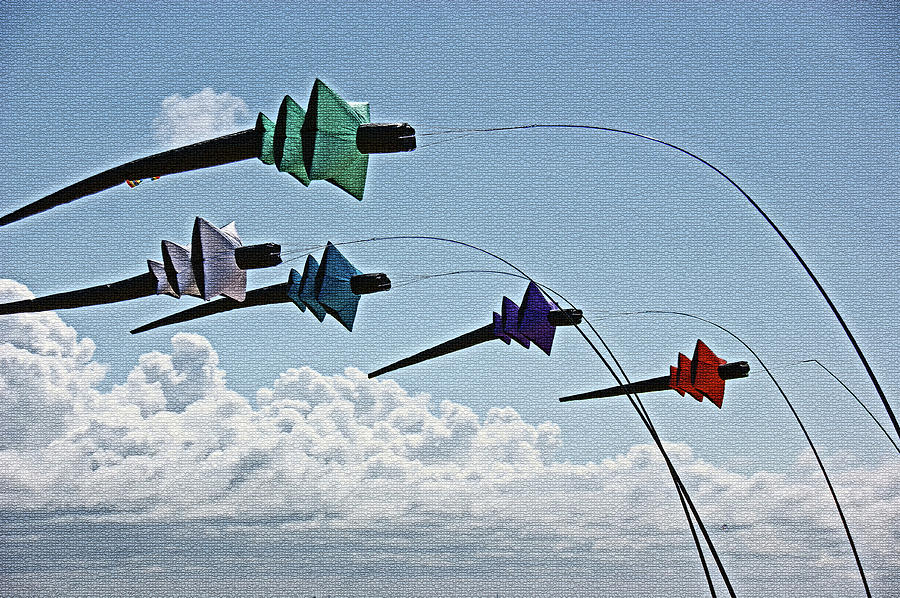 ST. ANNES. Pagoda Kites. by Lachlan Main