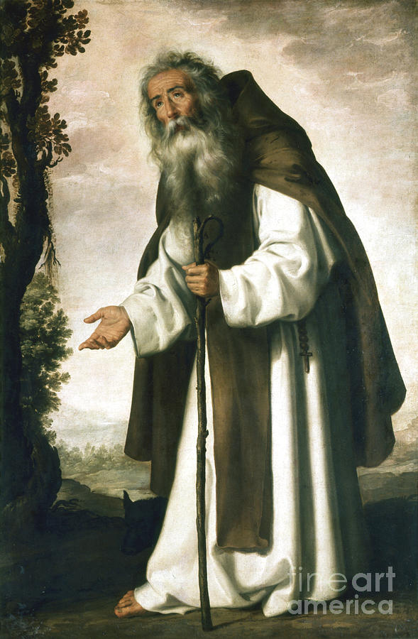 St Anthony, C1618-1664. Artist Drawing by Print Collector