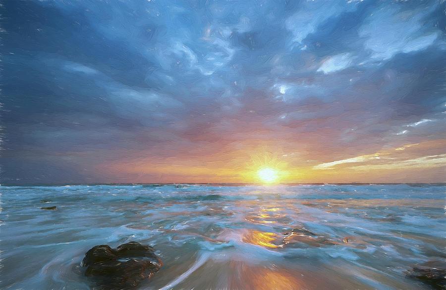 Decor Digital Art - St. Augusting Sunrise II by Jon Glaser