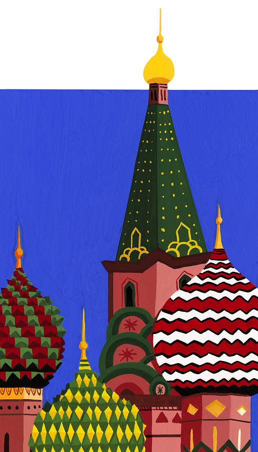 St. Basils Cathedral, Red Square Digital Art by Matt Olson