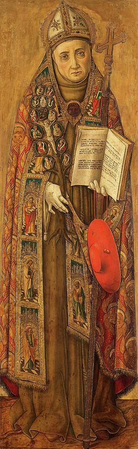 Saint Bonaventura Painting - St Bonaventura, 1502 by Vittore Crivelli