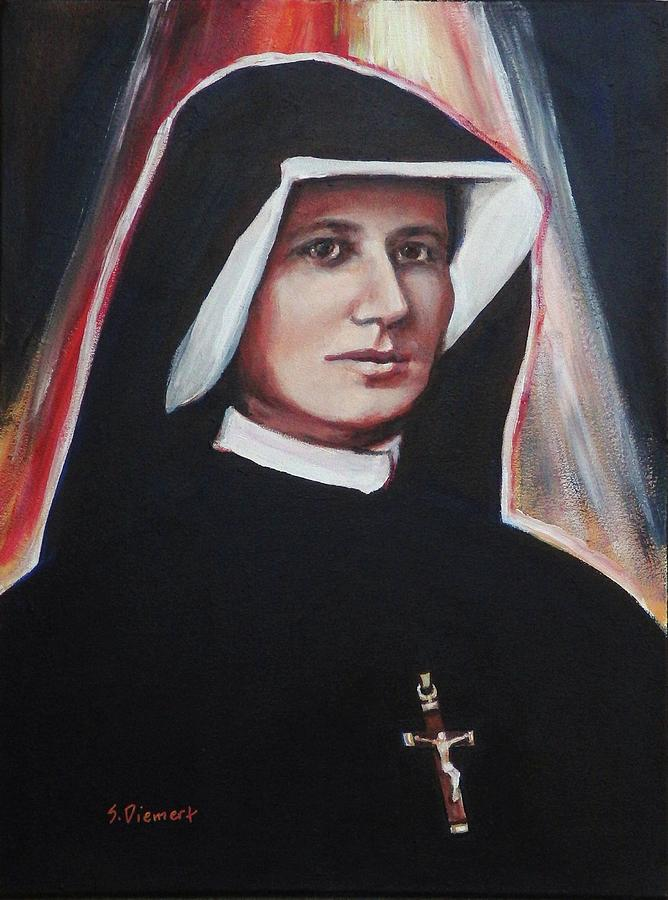 St. Faustina, Version I Painting