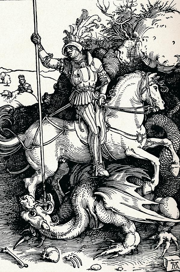 St George And The Dragon, 1505 1906 Drawing by Print Collector