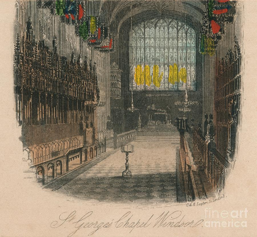 St Georges Chapel Windsor 1 Drawing by Print Collector