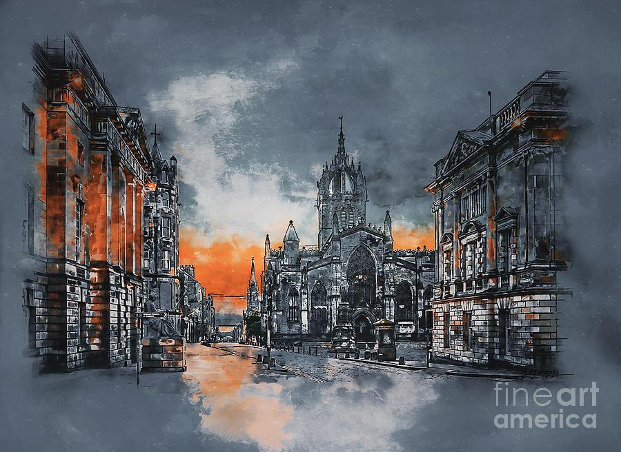 St Giles cathedral, Edinburgh. by Andrzej Szczerski