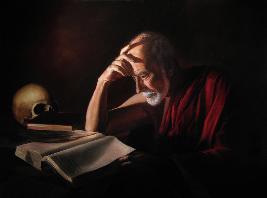 God Painting - St. Jerome by Eric  Armusik