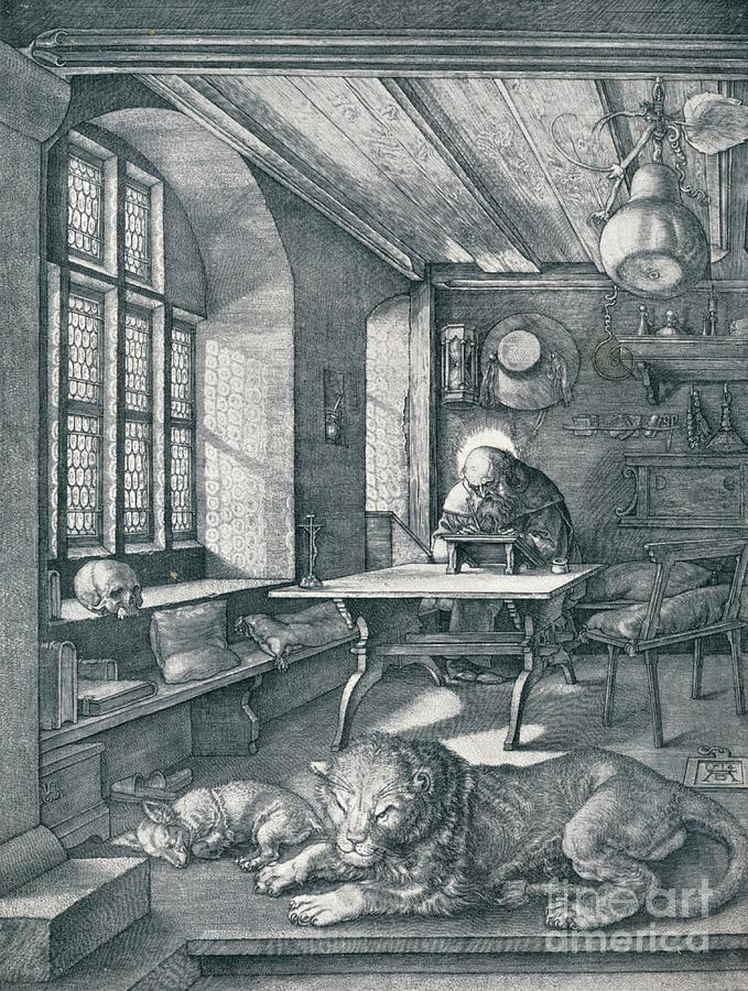 St Jerome In His Study, 1514 1906 Drawing by Print Collector
