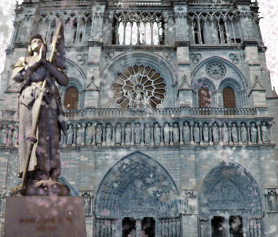 St Joan of Arc Watch Over Notre Dame by Joan Stratton