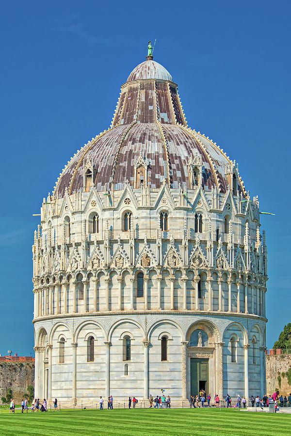 St. John Baptistery In Pisa Italy by Gary Slawsky