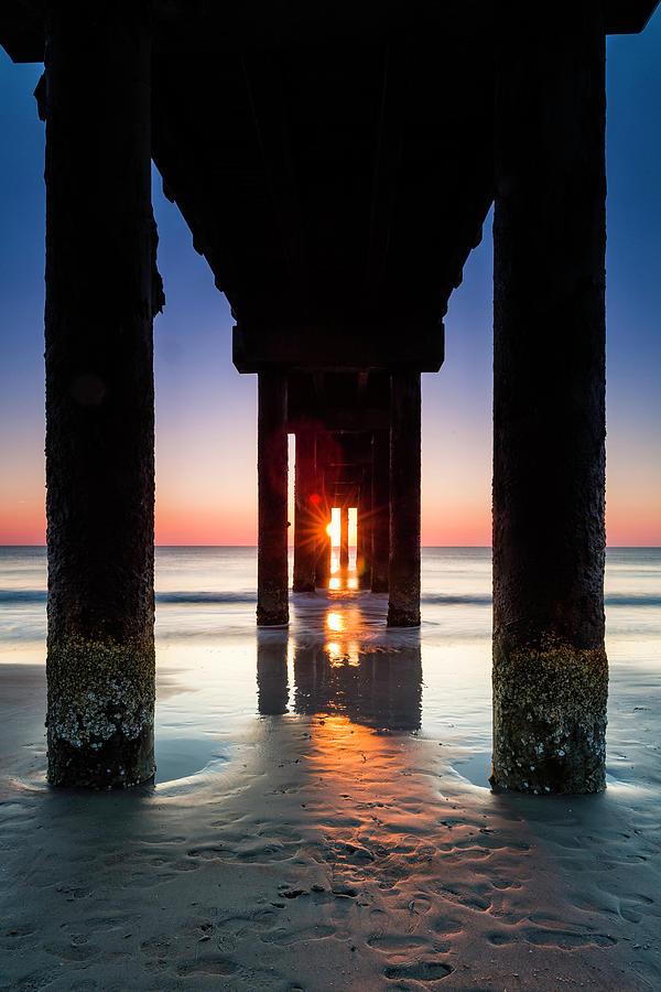 St. Johns Pier Sunrise  by Fran Gallogly