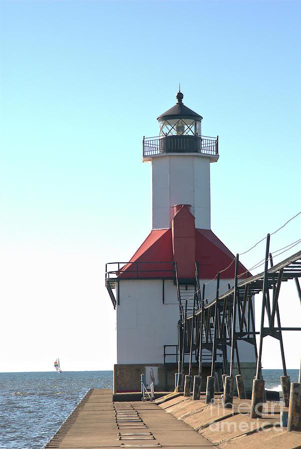 St Joseph North Pier Lighthouse 3 by Steve Edwards