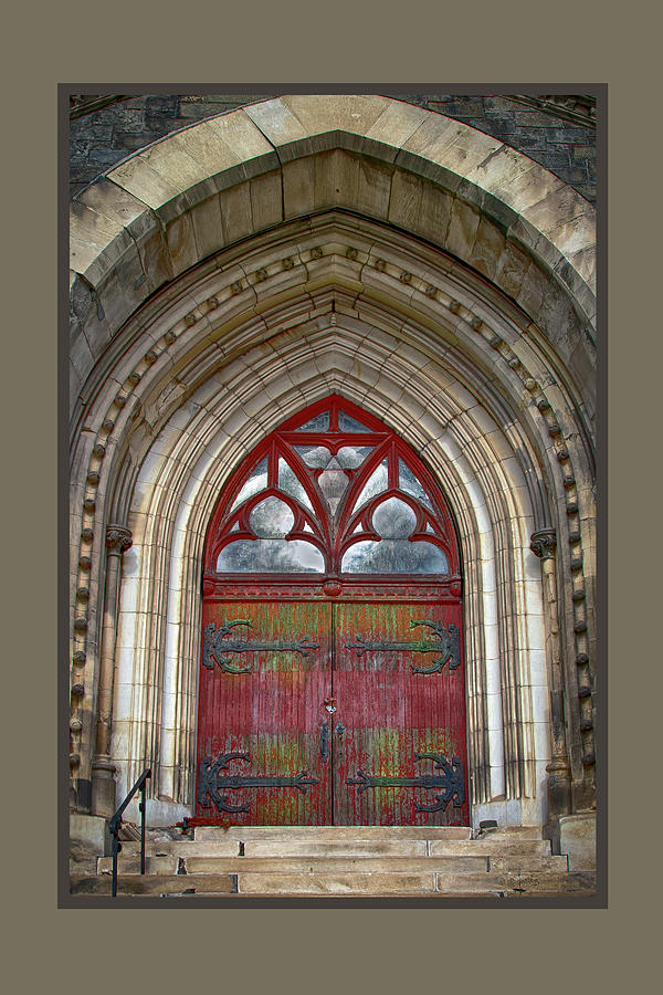 St. Joseph's Front Door  by Harriet Feagin