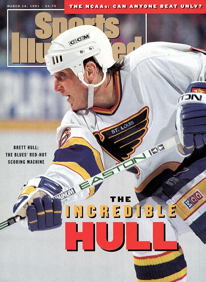 St. Louis Blues Brett Hull... Sports Illustrated Cover Photograph by Sports Illustrated