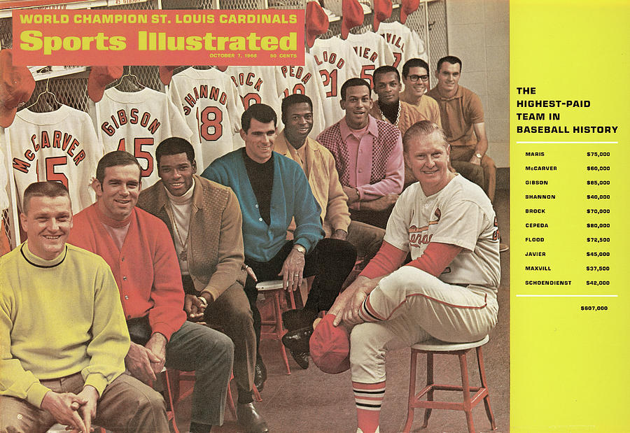 St. Louis Cardinals, 1968 World Series Champions Sports Illustrated Cover Photograph by Sports Illustrated