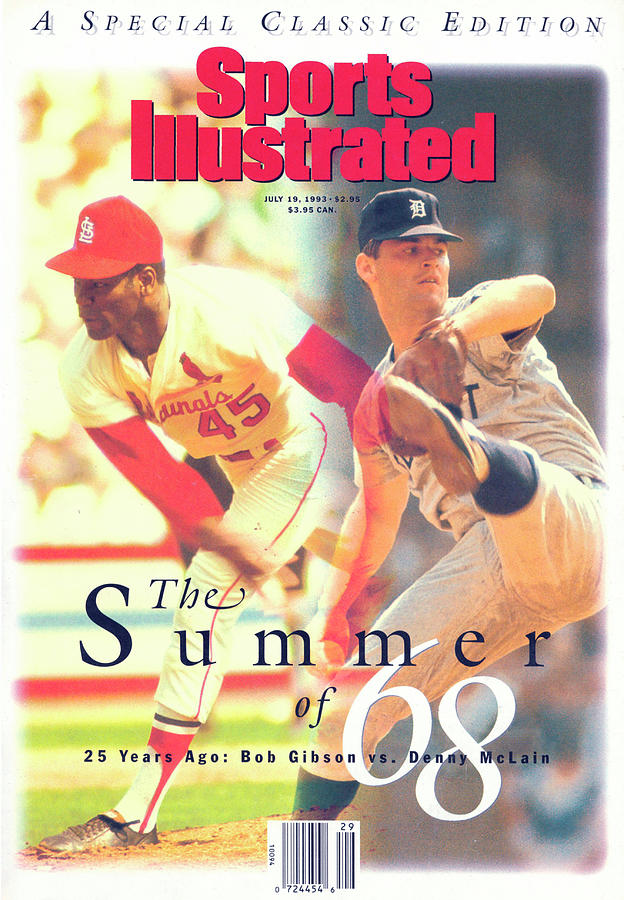 St. Louis Cardinals Bob Gibson And Detroit Tigers Denny Sports Illustrated Cover Photograph by Sports Illustrated