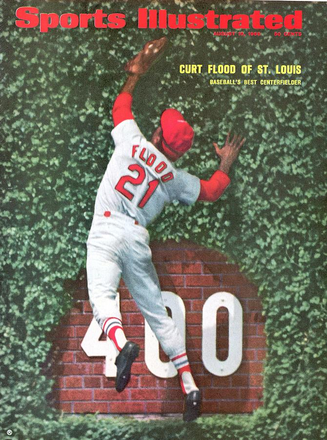 St. Louis Cardinals Curt Flood Sports Illustrated Cover Photograph by Sports Illustrated