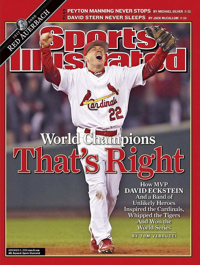 St. Louis Cardinals David Eckstein, 2006 World Series Sports Illustrated Cover Photograph by Sports Illustrated