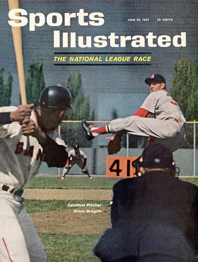 St. Louis Cardinals Ernie Broglio Sports Illustrated Cover Photograph by Sports Illustrated