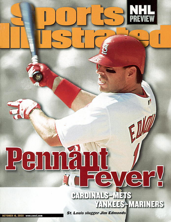 St. Louis Cardinals Jim Edmonds, 2000 National League Sports Illustrated Cover Photograph by Sports Illustrated