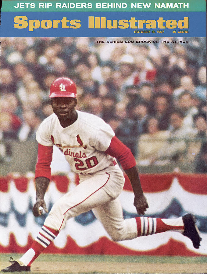 St. Louis Cardinals Lou Brock, 1967 World Series Sports Illustrated Cover Photograph by Sports Illustrated