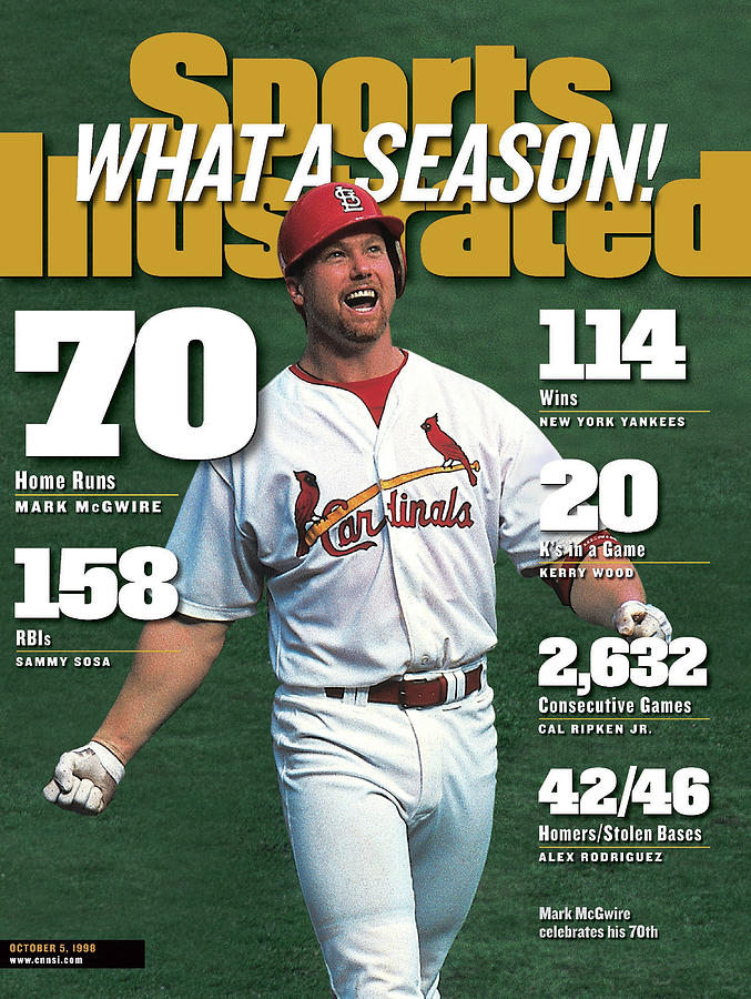 St. Louis Cardinals Mark Mcgwire What A Season Sports Illustrated Cover Photograph by Sports Illustrated