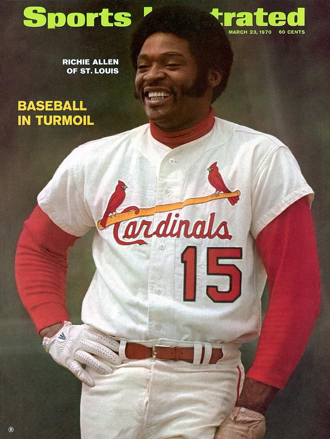 St. Louis Cardinals Richie Allen Sports Illustrated Cover Photograph by Sports Illustrated