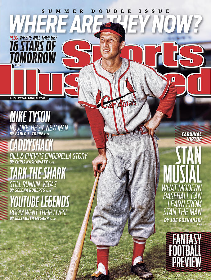 St. Louis Cardinals Stan Musial Sports Illustrated Cover Photograph by Sports Illustrated