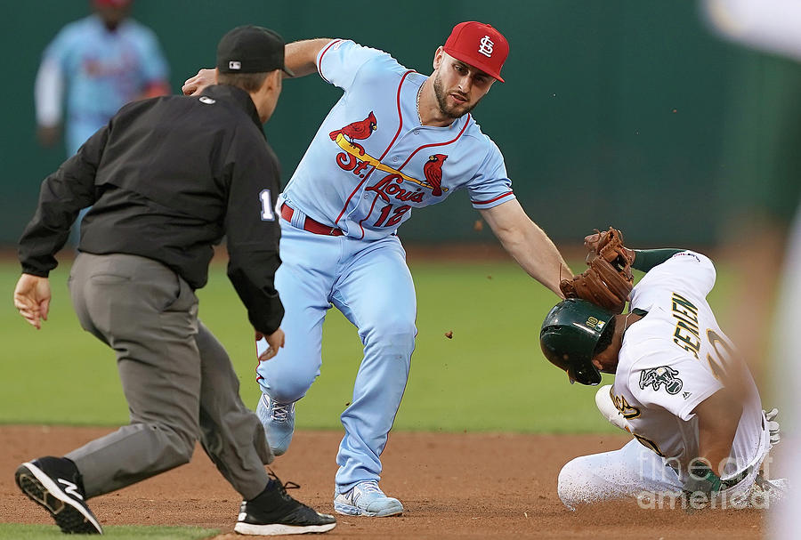 St Louis Cardinals  V Oakland Athletics Photograph by Thearon W. Henderson