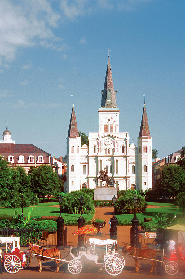 St. Louis Cathedral In The French Photograph by Medioimages/photodisc