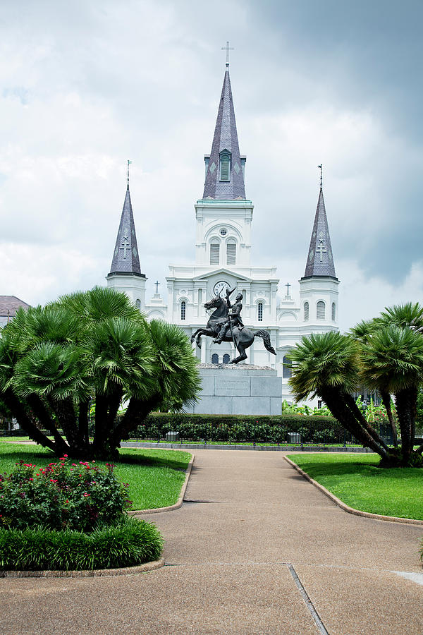 St. Louis Cathedral Jackson Square Photograph by Alina555