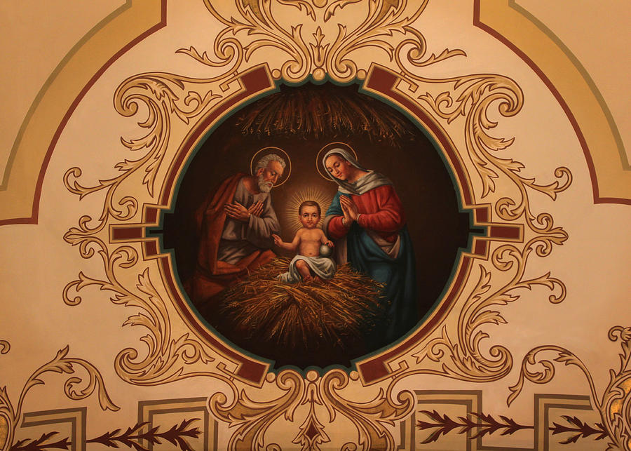 St. Louis Cathedral Nativity Scene by Debi Dalio