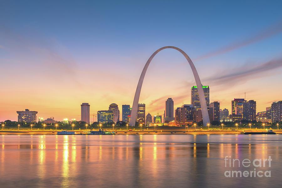 St. Louis, Missouri, Usa Downtown Photograph by Sean Pavone